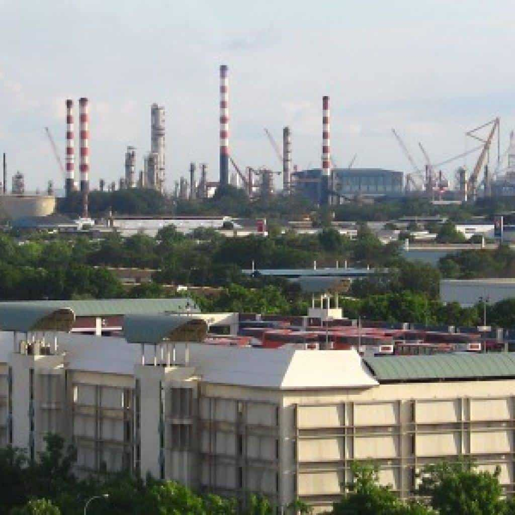 jurong industrial estate aerial view