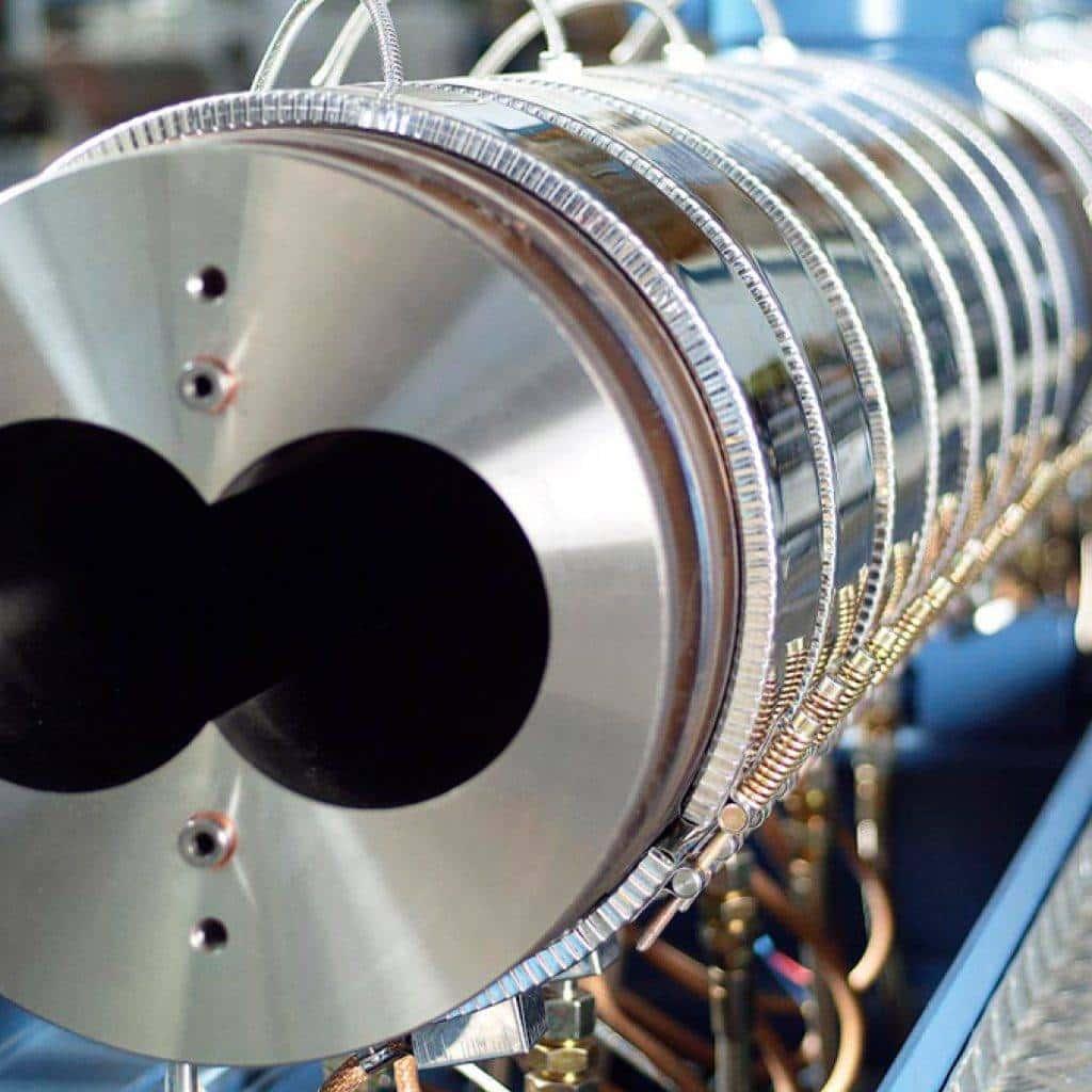 extrusora de doble tornillo para fabricación continua